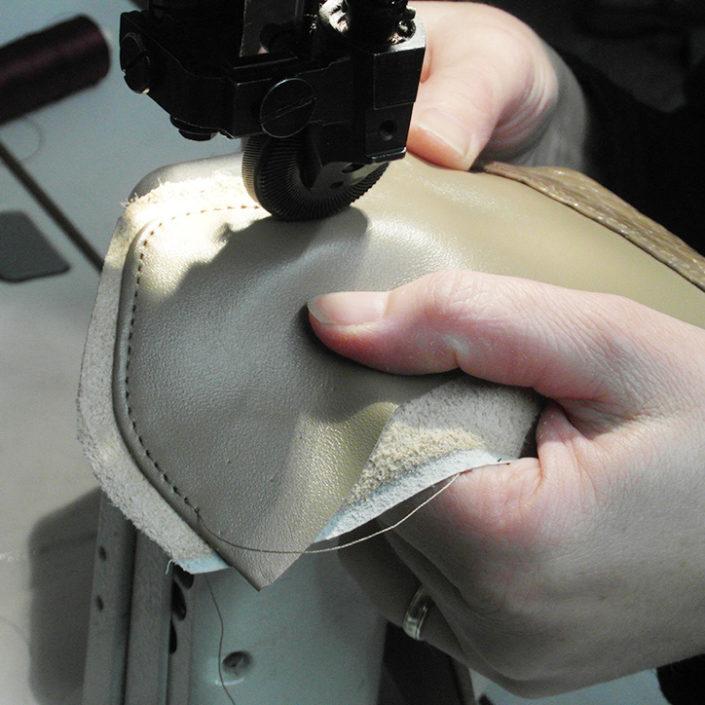 Nähen des Schuhschafts